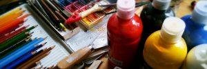 painting, pencils, paint