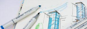 sketch book, sketch, marker
